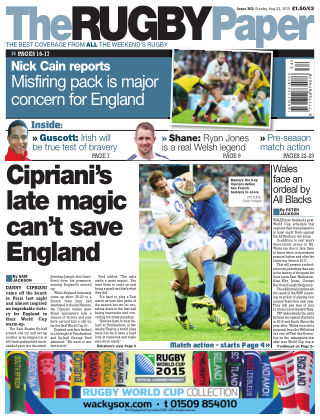 The Rugby Paper 23rd August 2015
