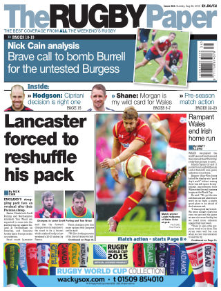 The Rugby Paper 30th August 2015