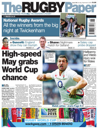 The Rugby Paper 6th September 2015