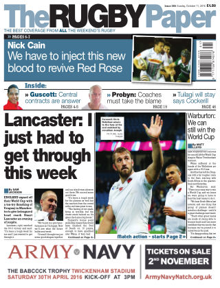 The Rugby Paper 11th October 2015