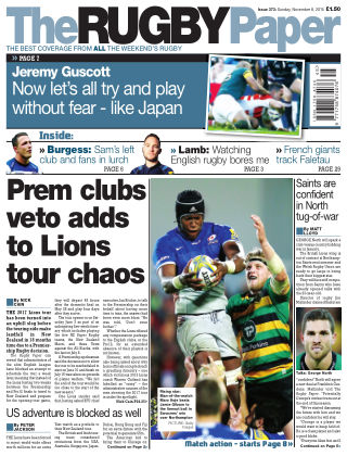 The Rugby Paper 8th November 2015