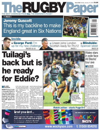 The Rugby Paper 10th January 2016