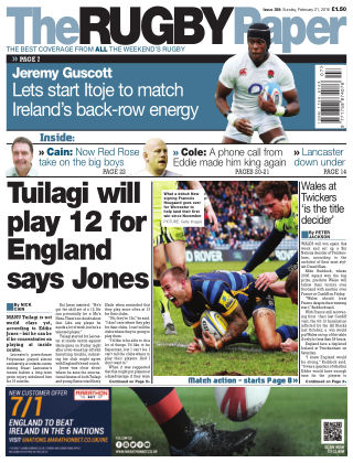 The Rugby Paper 21st February 2016