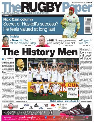 The Rugby Paper 26th June 2016