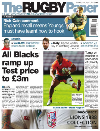The Rugby Paper 7th August 2016