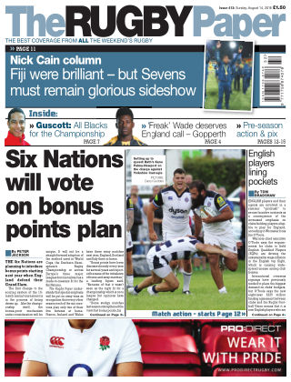 The Rugby Paper 14th August 2016