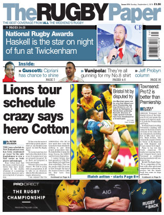 The Rugby Paper 4th September 2016