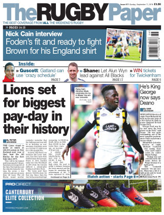 The Rugby Paper 11th September 2016