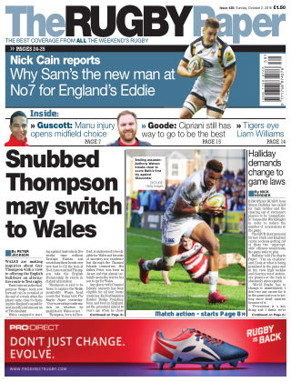 The Rugby Paper 2nd October 2016