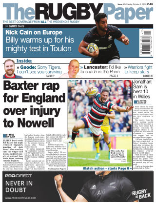 The Rugby Paper 9th October 2016