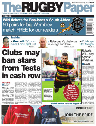 The Rugby Paper 23rd October 2016