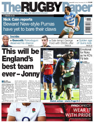 The Rugby Paper 20th November 2016