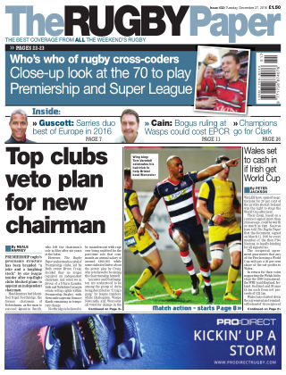 The Rugby Paper 27th December 2016