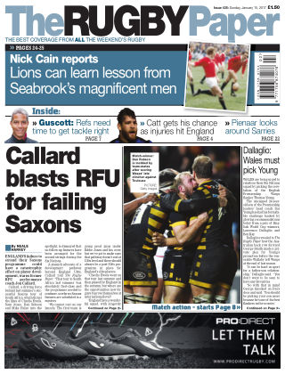 The Rugby Paper 15th January 2017