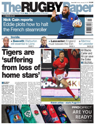 The Rugby Paper 22nd January 2017