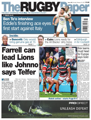 The Rugby Paper 19th February 2017