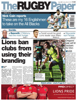 The Rugby Paper 26th March 2017