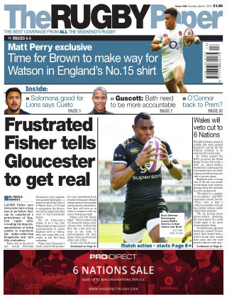 The Rugby Paper 2nd April 2017