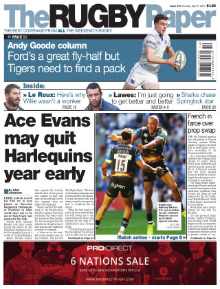 The Rugby Paper 9th April 2017