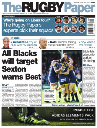 The Rugby Paper 16th April 2017