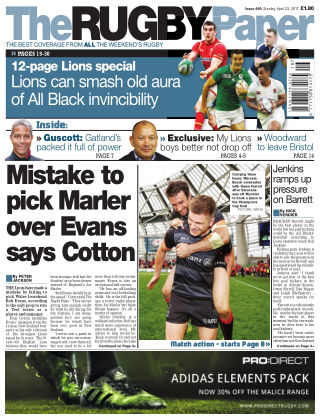 The Rugby Paper 23rd April 2017
