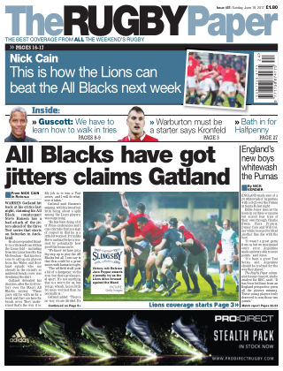 The Rugby Paper 18th June 2017