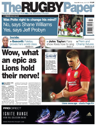The Rugby Paper 9th July 2017