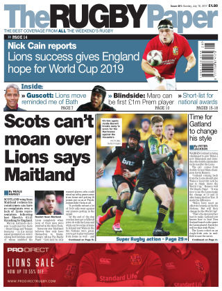 The Rugby Paper 16th July 2017