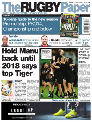 The Rugby Paper 27th August 2017