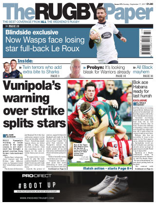 The Rugby Paper 17th September 2017