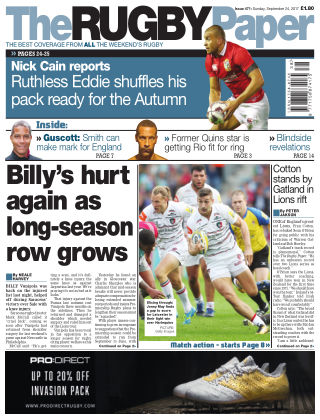 The Rugby Paper 24th September 2017
