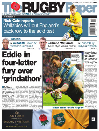 The Rugby Paper 12th November 2017