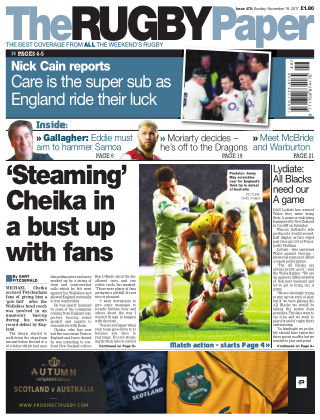 The Rugby Paper 19th November 2017