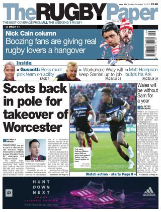 The Rugby Paper 10th December 2017