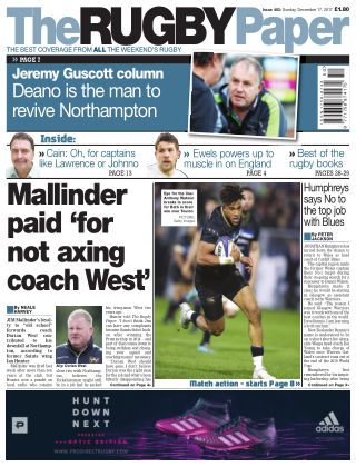 The Rugby Paper 17th December 2017