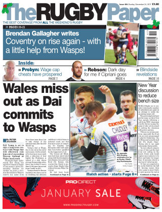 The Rugby Paper 24th December 2017