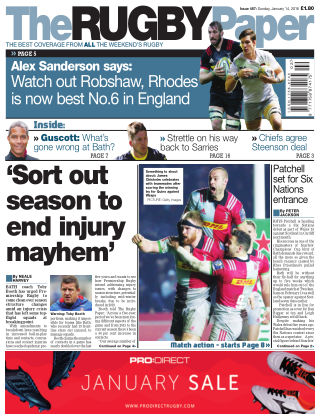 The Rugby Paper 14th January 2018