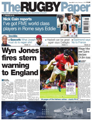 The Rugby Paper 4th February 2018