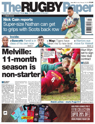 The Rugby Paper 18th February 2018