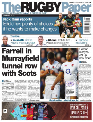 The Rugby Paper 25th February 2018