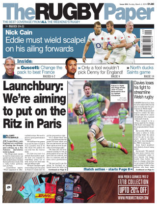 The Rugby Paper 4th March 2018