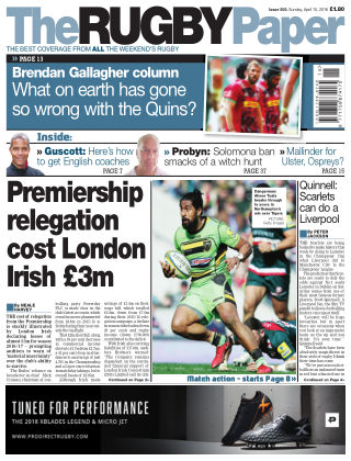 The Rugby Paper 15th April 2018