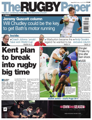 The Rugby Paper 22nd July 2018