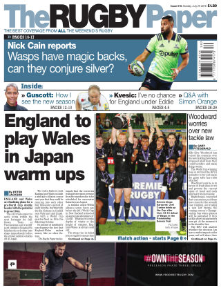 The Rugby Paper 29th July 2018