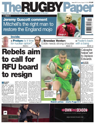 The Rugby Paper 12th August 2018
