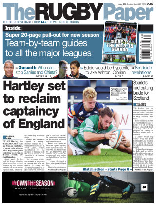 The Rugby Paper 26th August 2018