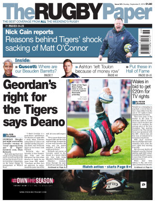 The Rugby Paper 9th September 2018
