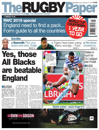 The Rugby Paper 16th September 2018