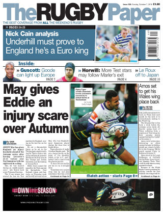 The Rugby Paper 7th October 2018