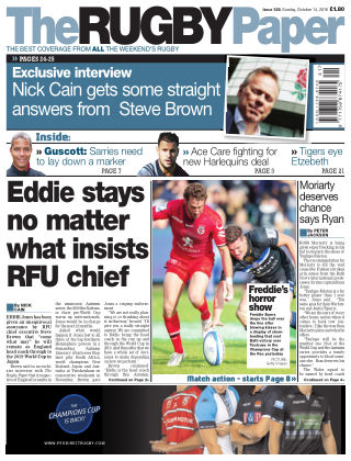 The Rugby Paper 14th October 2018